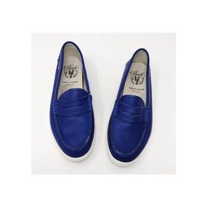 Cole Haan Blue Penny Loafers Size 7.5